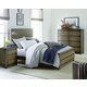 Legacy Classic Kids Big Sky 4pc Upholstered Bedroom Set in Weathered Oak