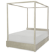 Legacy Classic Kids Indio Full Poster Bed with Canopy in White Sand 6811-4204K