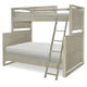 Legacy Classic Kids Indio Twin over Full Bunk Bed in White Sand