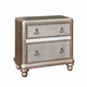 Coaster Furniture Bling Game 2 Drawer Nightstand in Platinum  Metallic 204182