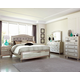 Coaster Furniture Bling Game 4pc Button Tufted Bedroom Set in Platinum Metallic