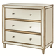 Hammary Hidden Treasures Mirrored Three Drawer Chest in White 090-459