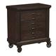 Samuel Lawrence Fulton St. 3 Drawer Castered Nightstand in Oak S086-055