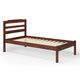 Manhattan Comfort Hayden Twin Size Bed in Brown A154