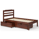 Manhattan Comfort Hayden Twin Storage Bed in Brown A254