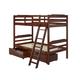 Manhattan Comfort Hayden Twin Storage Bunk Bed in Brown A454