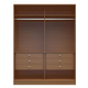 Manhattan Comfort  Chelsea 2.0 He/ She Wardrobe with 6 Drawers in Maple Cream 117751
