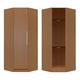 Manhattan Comfort  Chelsea Corner Closet with  1 Door in Maple Cream  2-116051118351