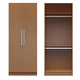 Manhattan Comfort  Chelsea Double Hanging Closet with 2 Doors in Maple Cream 2-116751118251