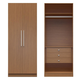 Manhattan Comfort  Chelsea 2.0 Basic Wardrobe Closet 2 with 3 Drawers and 2 Doors in Maple Cream 2-116851118251