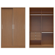 Manhattan Comfort  Chelsea 1.0 Double Basic Wardrobe with 3 Drawers and 2 Sliding Doors in Maple Cream 2-116951111851