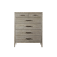 Universal Furniture Modern Kennedy Drawer Chest in Flint 645150