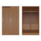 Manhattan Comfort  Chelsea 1.0 He/ She Wardrobe with 6 Drawers and 2 Sliding Doors in Maple Cream 2-117551111851