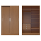 Manhattan Comfort  Chelsea 1.0 Full Wardrobe with 3 Drawers and 2 Sliding Doors in Maple Cream 2-117651111851