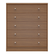 Manhattan Comfort Astor 2.0 5 Drawer Modern Dresser in Maple Cream 60851