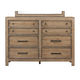 Samuel Lawrence Flatbush 8 Drawer Bureau in Light Oak S084-015