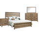 Samuel Lawrence Flatbush 4pc Panel Bedroom Set in Light Oak