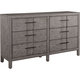 Broyhill Furniture Sonoma Drawer Dresser in Acacia 4865-230