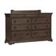 Pulaski Furniture Lindale 9 Drawer Dresser in Cappuccino P030100
