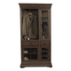 Pulaski Furniture Lindale Curio Armoire in Cappuccino P030120