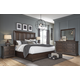 Pulaski Furniture Lindale 4pc Panel Bedroom Set in Cappuccino