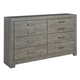 Culverbach 8 Drawer Dresser in Gray B070-31