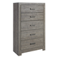 Culverbach 5 Drawer Chest in Gray B070-46