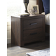 Arkaline 2 Drawer Nightstand in Rich Brown B071-92