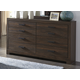 Arkaline 6 Drawer Dresser in Rich Brown B071-31