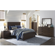 Arkaline 5pc Panel Bedroom Set in Rich Brown