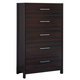 Agella 5 Drawer Chest in Dark Merlot B072-46
