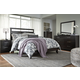 Agella 5pc Panel Bedroom Set in Dark Merlot