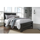 Brinxton Queen Poster Bed in Dark Charcoal
