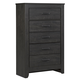 Brinxton 5 Drawer Chest in Dark Charcoal B249-46