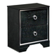 Amrothi 2 Drawer Nightstand in Black