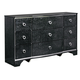 Amrothi 9 Drawer Dresser in Black
