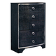 Amrothi 5 Drawer Chest in Black