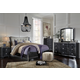 Amrothi 4pc Panel Bedroom Set in Black