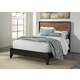 Stavani Queen Panel Bed in Black/Brown
