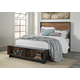 Stavani Queen Panel Storage Bed in Black/Brown