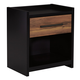 Stavani 1 Drawer Nightstand in Black/Brown