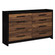Stavani 8 Drawer Dresser in Black/Brown