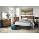 Stavani 5pc Panel Bedroom Set in Black/Brown