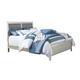Olivet California King Panel Bed in Silver