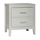Olivet 2 Drawer Nightstand in Silver