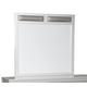 Olivet Bedroom Mirror in Silver