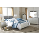 Olivet 5pc Panel Bedroom Set in Silver