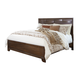 Mydarosa California King Panel Bed in Brown