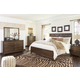 Mydarosa 4pc Panel Bedroom Set in Brown