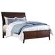 Evanburg California King Sleigh Bed in Brown